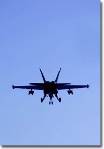 F18 fighter jet silhouette photo